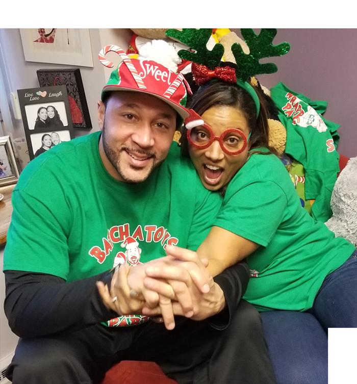 Photo of Charlie and Tasha Christmas